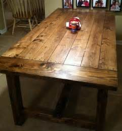 Farmhouse table from plans shortened length to 6 5 feet to fit our
