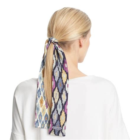Hairclip Ponytail Ikat lyst coach ikat ponytail scarf in blue