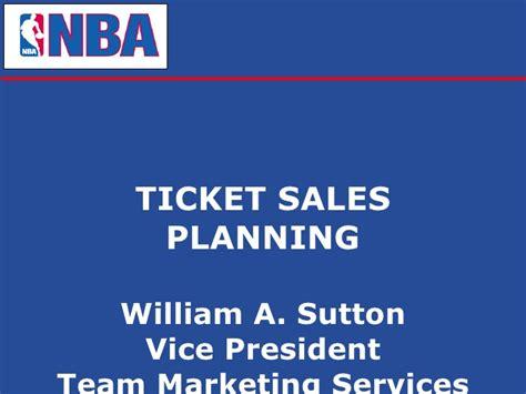 ticket sales planning