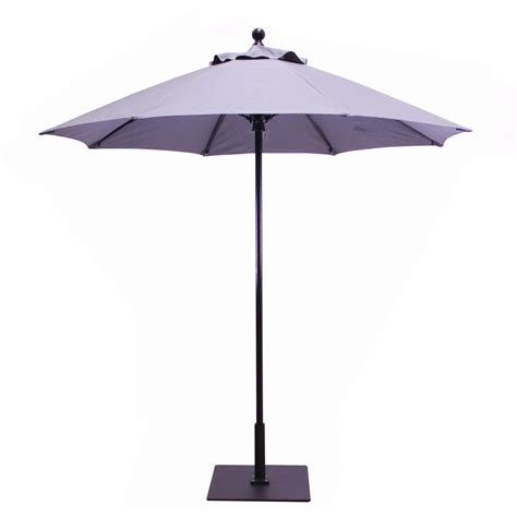 galtech 7 5 ft resin commercial patio umbrella with manual