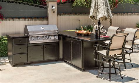 kitchen island grill grill seating l shape island outdoor kitchens the great escape