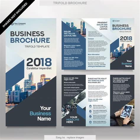 corporate layout free vector business brochure template in tri fold layout corporate