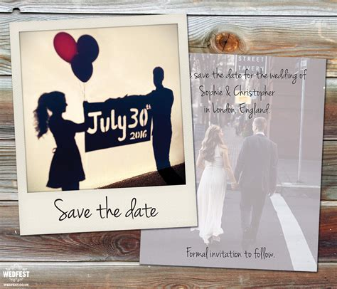 Wedding Save The Date by Polaroid Wedding Save The Date Cards Wedfest