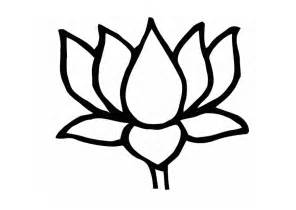 Lotus Simple Lotus Flower Coloring Pages Flower Coloring Page