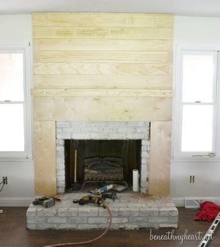 how to build a fireplace surround beneath my