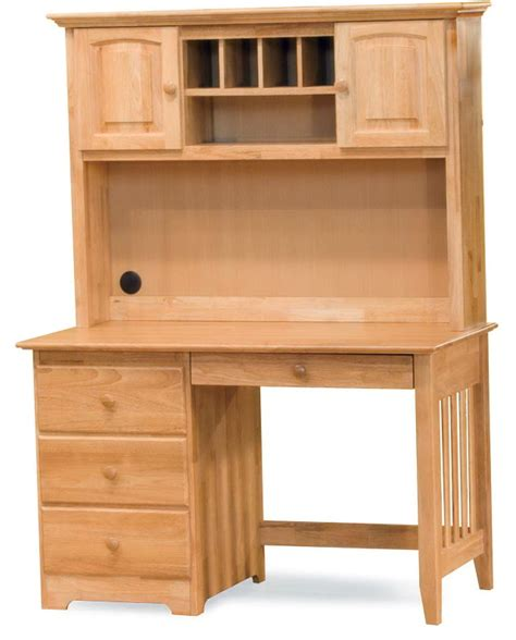 Pine Desk With Hutch Sturdy Solid Wood Computer Desk Atzine