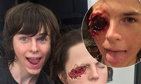chandler snapchat the walking dead s chandler riggs shares grisly snap of