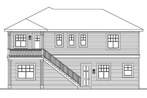 rear view house plans rear view of house plan house plans u0026 home plans