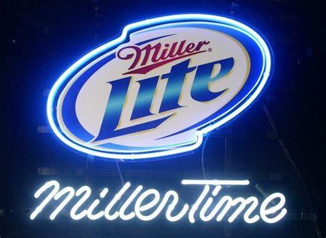 miller lite neon light miller lite miller signs neon light signs neon