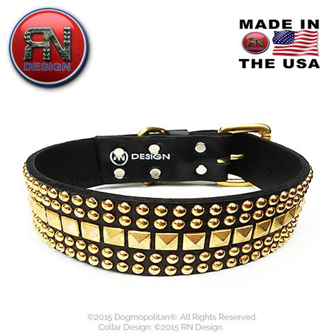 studded leather collars rn design metal studded collar leather custom made in usa
