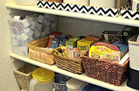 Pantry Baskets by Pantry Makeover Using Baskets Trays To Keep Organized