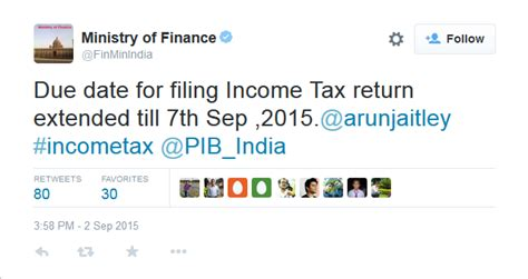 2015 income tax filing due date for filing income tax return extended till sep 7