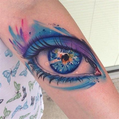 tattoo eye purple realistic eye tattoodenenasvalencia