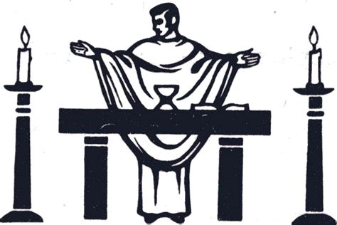 altar clipart holy mass pencil and in color altar