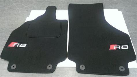 audi oem floor mats custom badges and engine vents