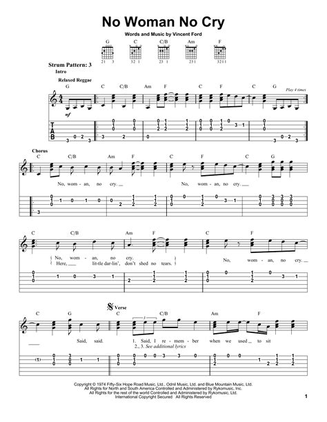 ukulele tutorial no woman no cry no woman no cry sheet music direct