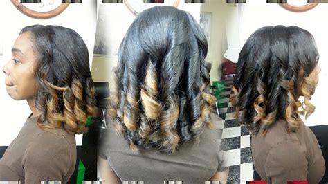 flat iron spiral curls demo thegriynthumb salon