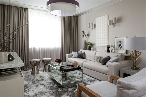 mirrored side table living room
