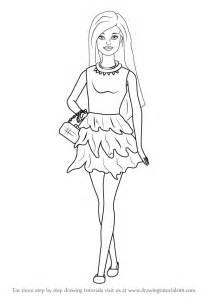 learn draw barbie doll skirt barbie step step drawing tutorials