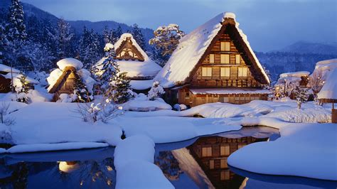 Winter Cabin Winter Cabin Wallpaper 1044705