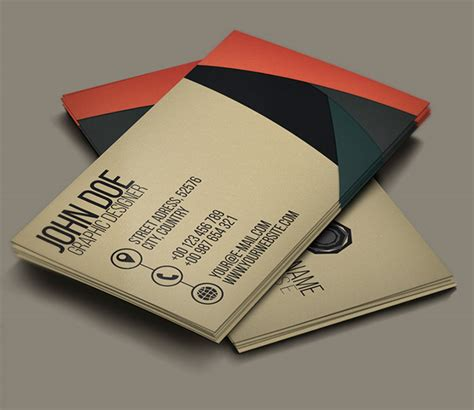 30 free business card psd templates mockups design