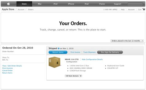 Apple Order Status | apple updates online order status pages during overnight