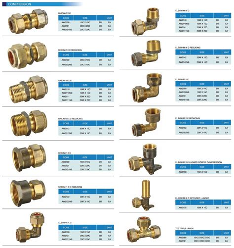 Brass Plumbing Fittings Catalogue conduit industrial pipes and fittings product information