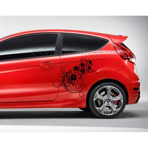 7 Car Sticker mk7 ford car flower vine custom vinyl graphic
