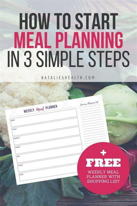 start meal planning   simple steps natalies