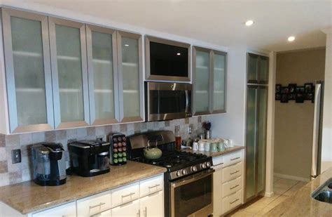 Aluminum Cabinet Doors - glass kitchen cabinet doors gallery aluminum glass