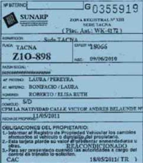 tarjeta de circulacion de vehiculos congresista juan pari denuncia uso de normas y reglamentos