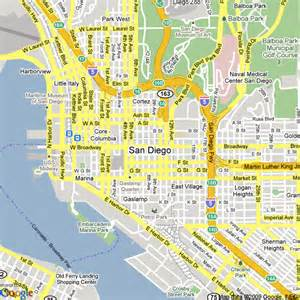 Google Map San Diego by Map Of San Diego United States Hotels Accommodation
