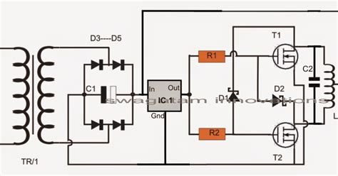 induction heater calculations simple induction heater circuit plate cooker circuit electronic circuit projects
