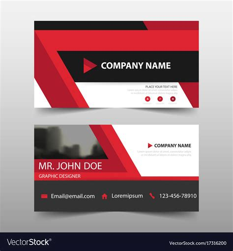 name card template vector corporate business card name card template vector image