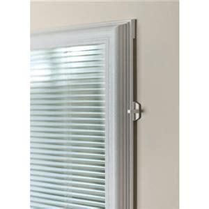 cordless white aluminum light filtering door blinds mini blinds odl cordless door addon enclosed mini blinds 1 2 quot slats 22