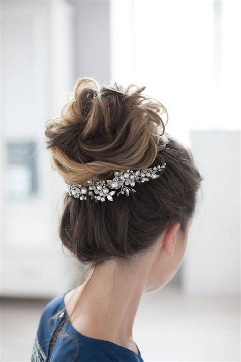 1000 ideas about updo hairstyle on wedding updo flower crown wedding and bun