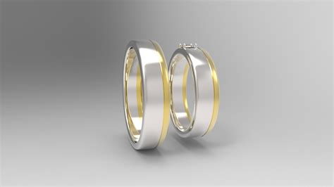 Wedding Rings Pair by Wedding Ring Pair 3d Model 3d Printable 3dm Cgtrader
