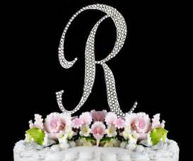 letter r initial cake topper initial r just jen