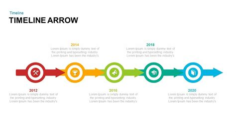 Timeline Arrow Powerpoint and Keynote template   SlideBazaar