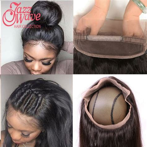 short side part hair styles 360 view top 360 lace frontal with bundle brazilian straight hair