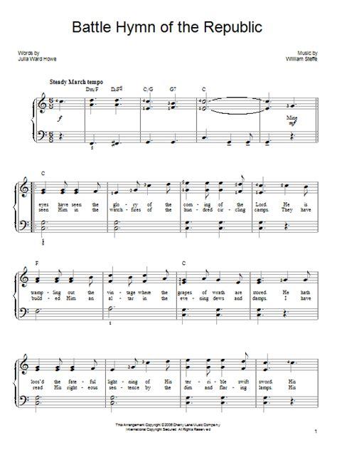 printable lyrics to battle hymn of the republic battle hymn of the republic sheet music direct