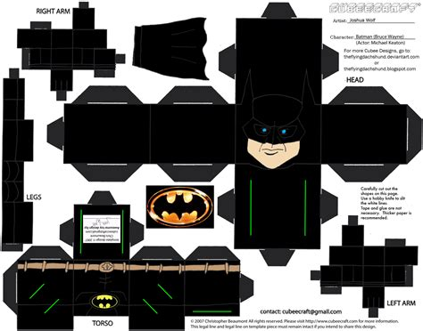 Batman Papercraft - dcf1 batman 89 cubee by theflyingdachshund on deviantart