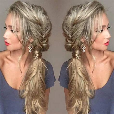 Side Hairstyles by 21 Pretty Side Swept Hairstyles For Prom Fishtail