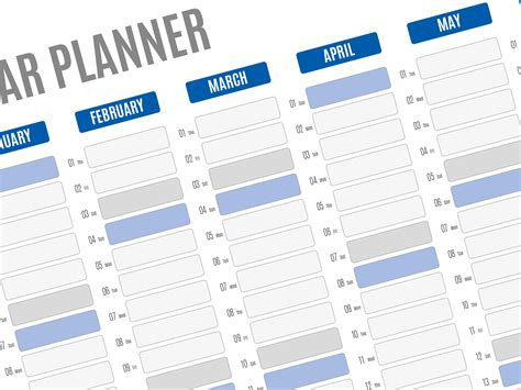 Best Year Planner Template 2018 Printable Pdf Wall Agenda Yearly Planner Template