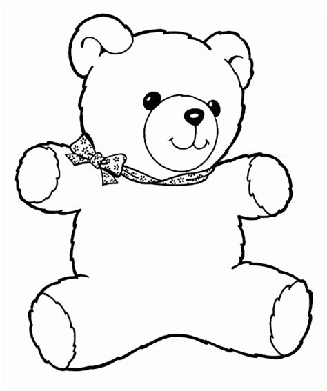 printable teddy template teddy free printable coloring pages
