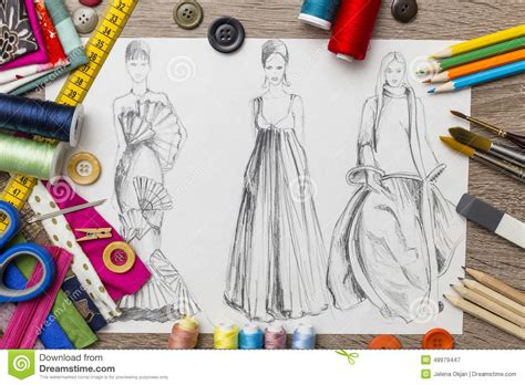 Designing Is by Fashion Design Sketch Stock Illustration Image Of Lesson