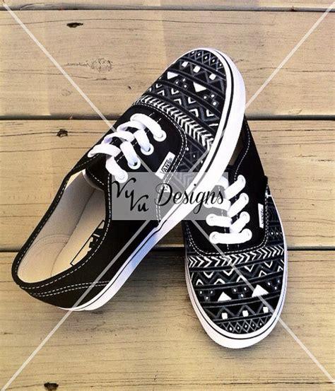 aztec pattern vans black aztec vans front design