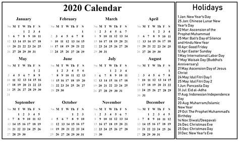 printable blank indonesia calendar   excel word format printable june