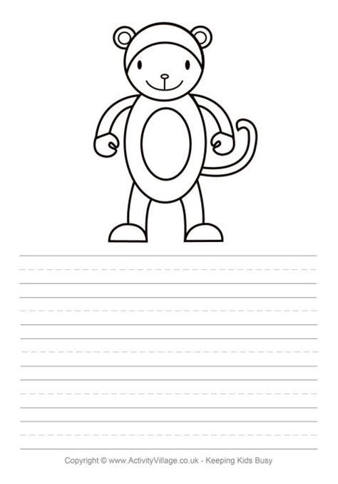 monkey writing paper monkey story paper