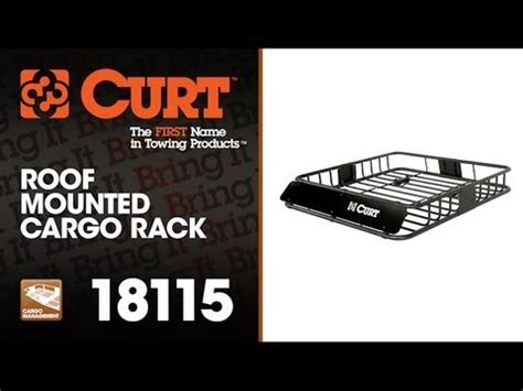 curt 18115 roof mounted cargo rack youtube